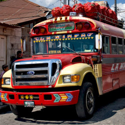 Guatemalan bus to Lake Atitlan