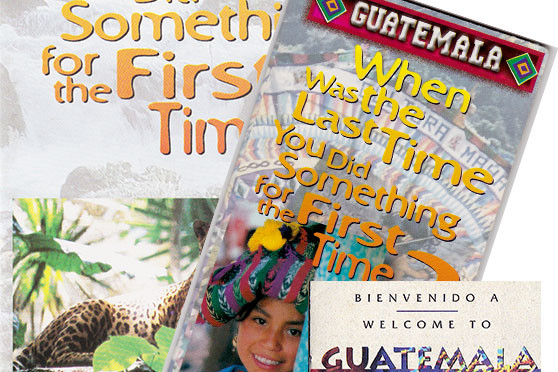Guatemalan tourist pamphlets from 2002