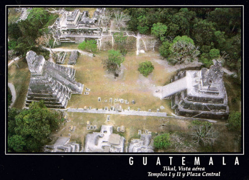 A postcard of Tikal from 2002
