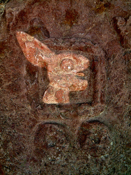 Two Rabbit Glyph Highlighted at Teotenango