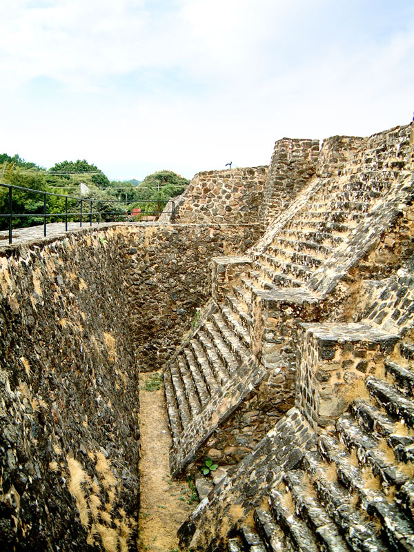 Inner Stairs of Building 1 at Teopanzolco