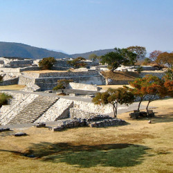 View of Acropolis from Pyramid of the Stelae at Xochicalco