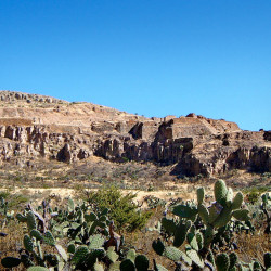 View of La Quemada from approach Road