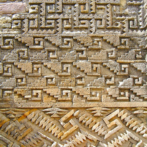 The Geometric Designs that adorn Building 6 at Mitla