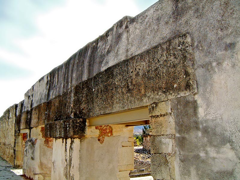 A huge Monolithic Lintel which supports the doorwars of Building 5, Mitla