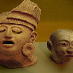 Two clay heads from the Central Veracruz Region