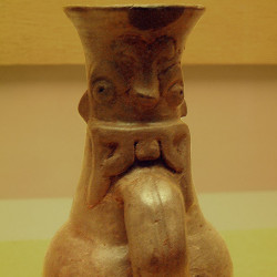 An anthropomorphic jug from Monte Alban
