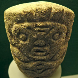A small Olmec Statue possibly used for grinding