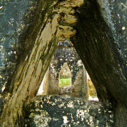 A veiw of the archways within Grupo G at Tikal