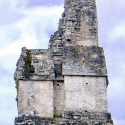 The roof comb of Templo I at Tikal seems to feature a mysterious face