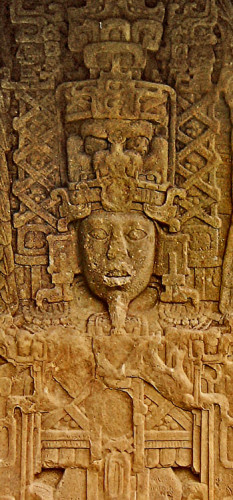 Headdress from Stela A at Quirigua