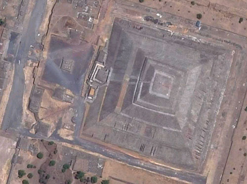 Pyramid of the Sun Aerial Image