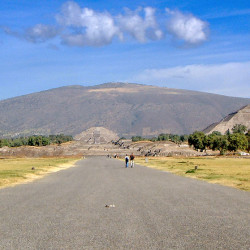 Avenue of Dead at Teotihuacan