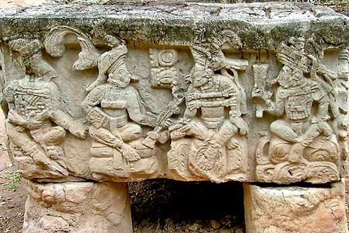 First side of Altar Q at Copan