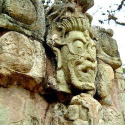 Deity on Jaguar Staircase at Copan
