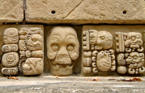 Carvings from the entrance of templo 22
