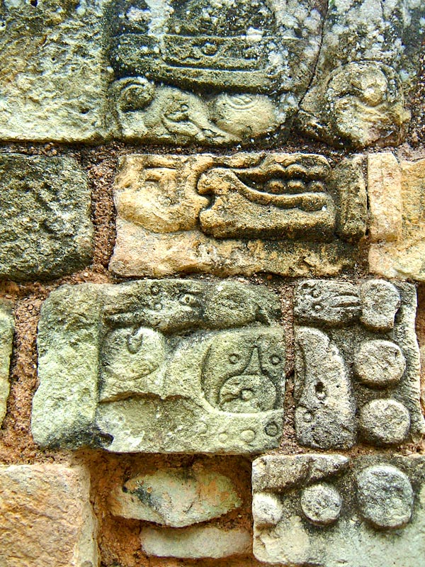 Carving on Temple of Inscriptions at Copan