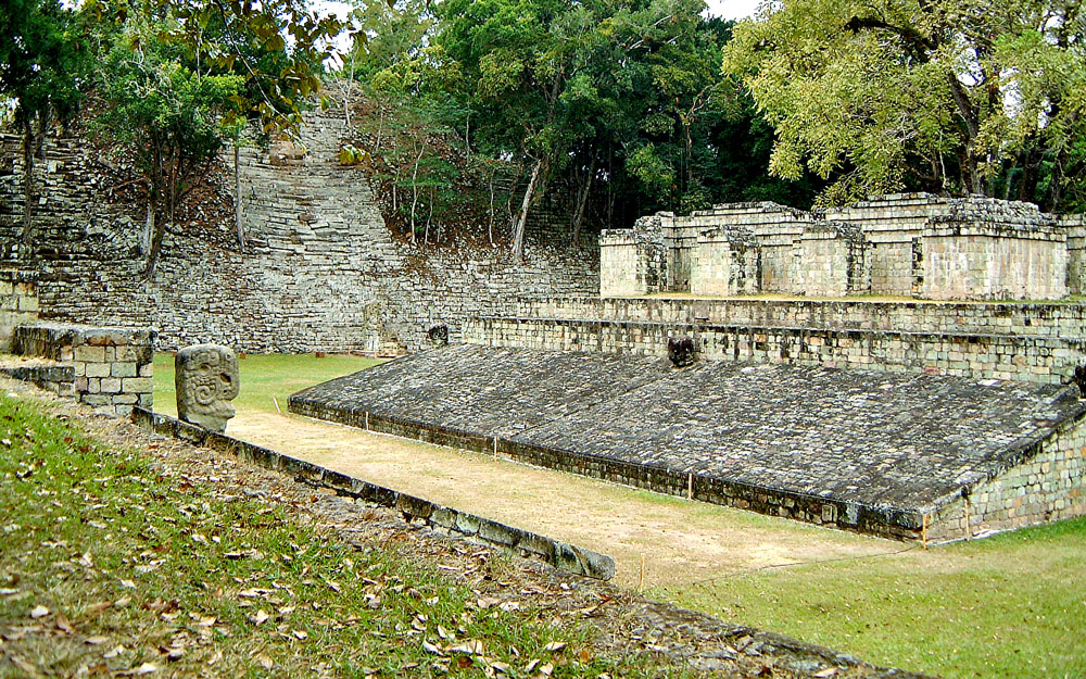 Structure 10, the ballcourt, at Copan