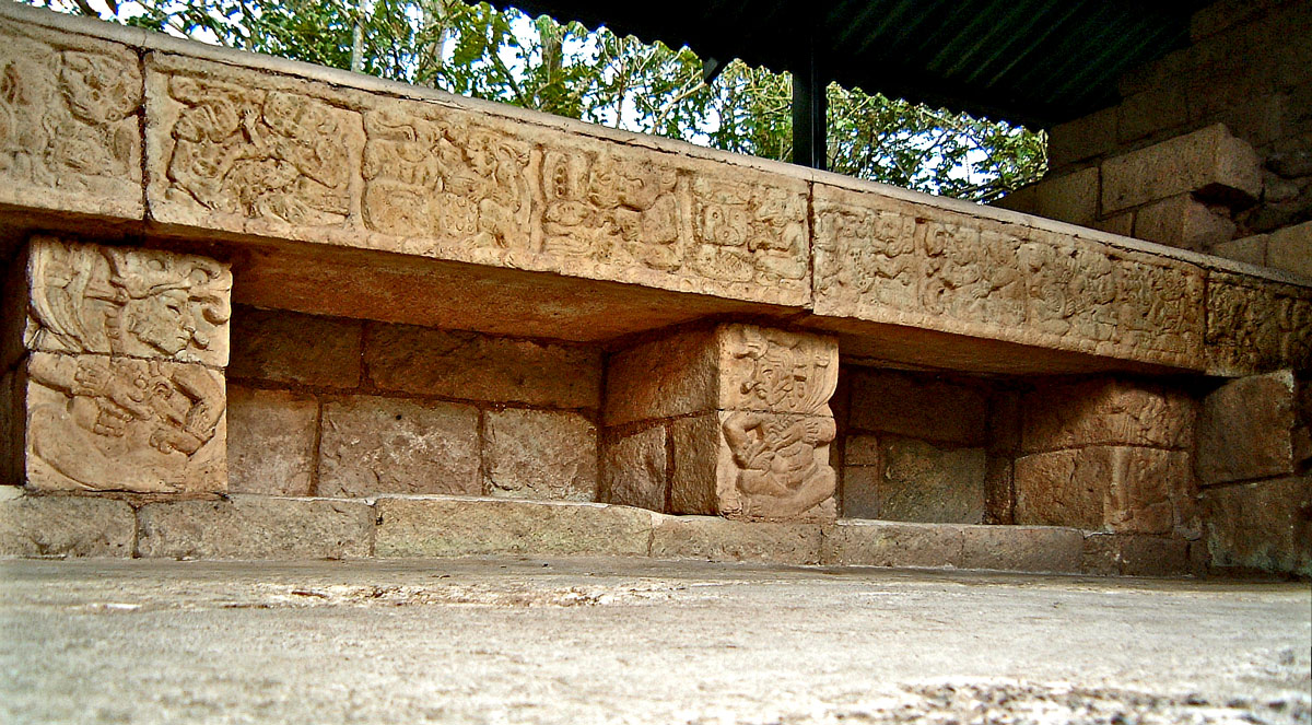 Carved Bench in Structure 82 at Las Sepulturas