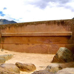 Monolith in the Temple of the Sun precinct at Ollantaytambo