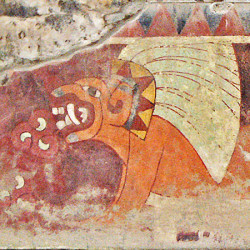 Jaguar mural of Tetitla at Teotihuacan