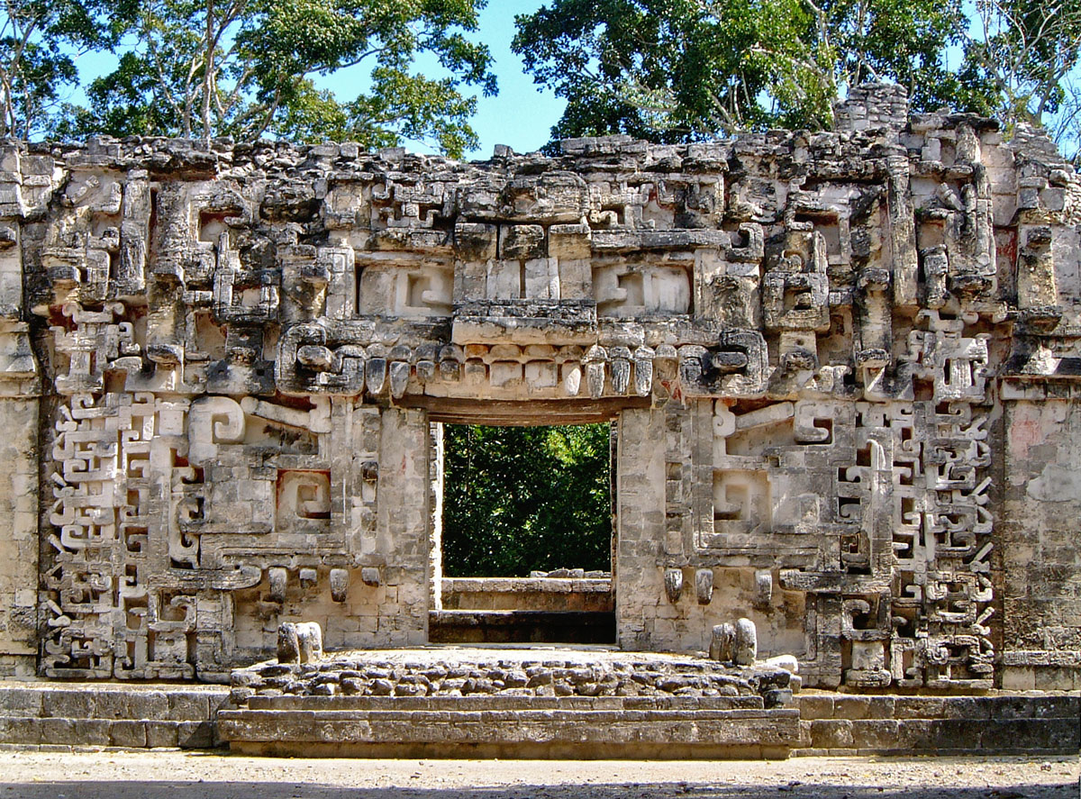 Chicanna Structure II - The House of the Serpent Mouth