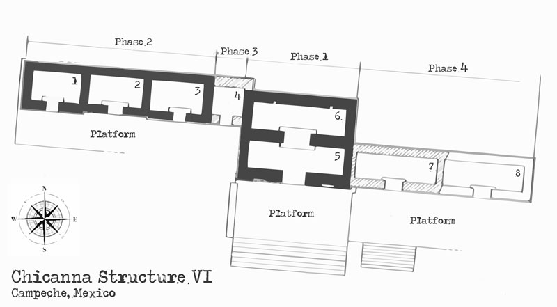 Chicanna Structure VI Floor Plan