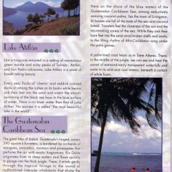 Guatemala Nature pamphlet - Lake Atitlan
