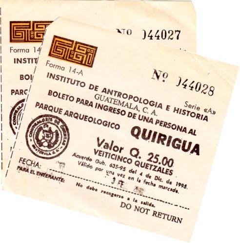 Quirigua: Tickets