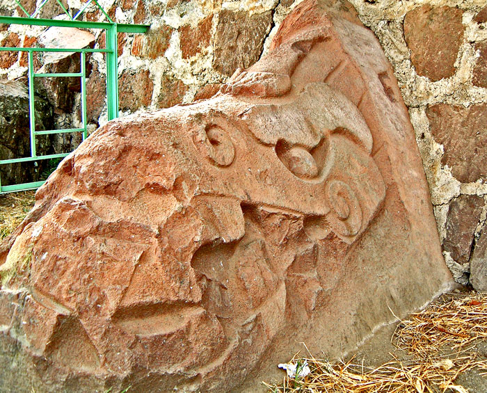Serpent Carving at Teotenango