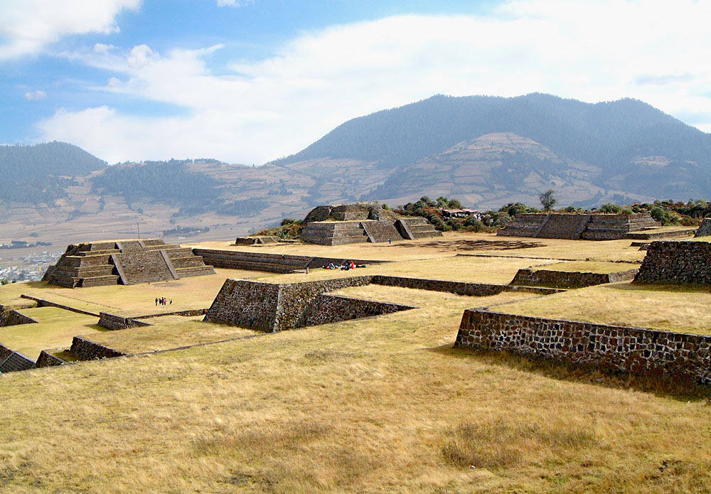 Looking East Towards Pyramids A & B at Teotenango