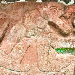 Jaguar Carving at Teotenango