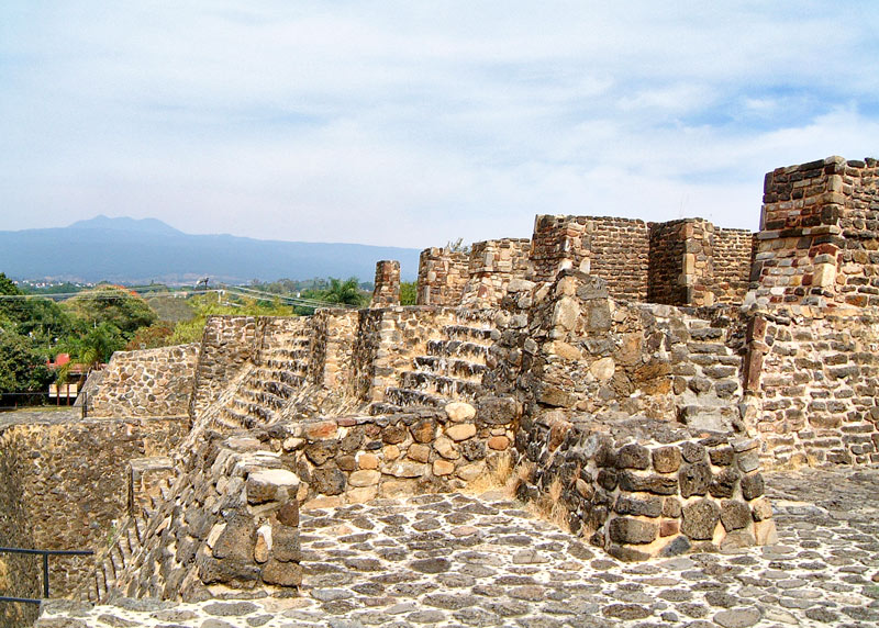 Temples of Tlaloc and Huitzilopochtli at Teopanzolco