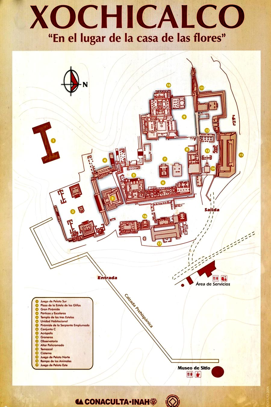 Site Map of Xochicalco