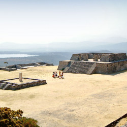 Building D and Plaza of the Stela at Xochicalco