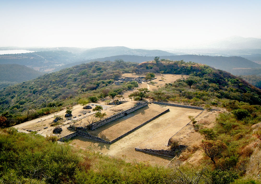 Southern Ballcourt and La Malinche at Xochicalco