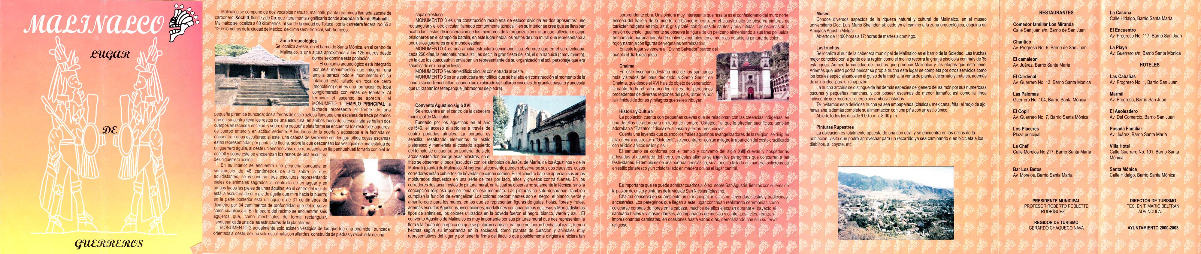 Malinalco Tourist Booklet from 2001