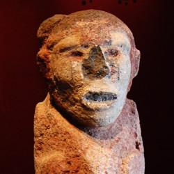 Hunchback Statue at Malinalco
