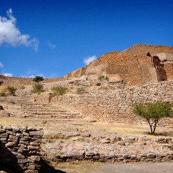 Stairway from Ballcourt at La Quemada