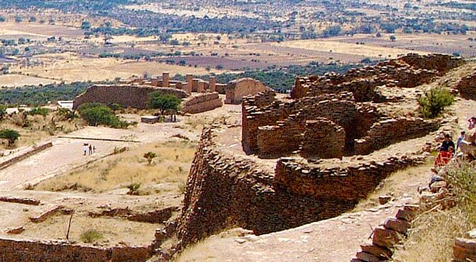 Votive Pyramid, Ballcourt & El Cuartel at La Quemada