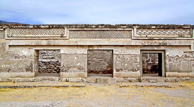 Building 2, which lines the North Side of the Church Group at Mitla