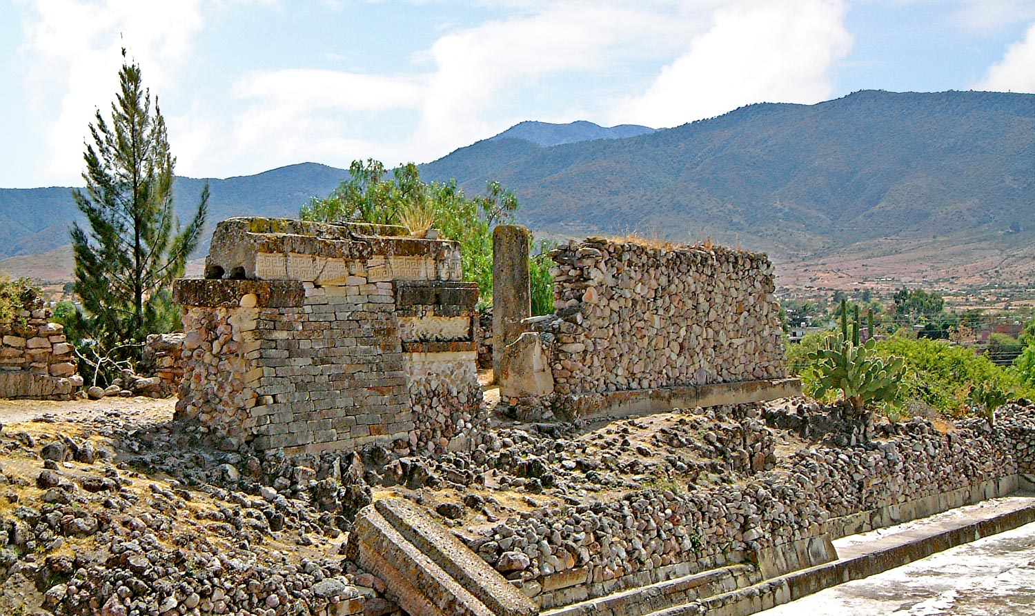 East-Side of the Group of Columns at Mitla