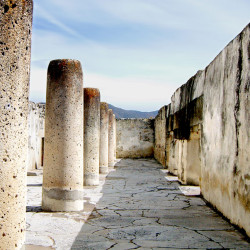 Building 5, also known as the Hall of Columns, at Mitla