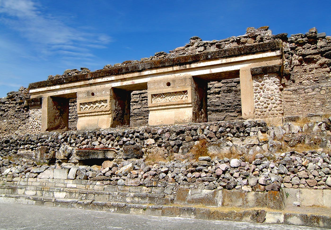 Building 9, which lines the north side of the South Group at Mitla