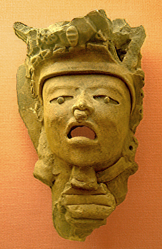 A clay mask from the Remojadas Culture
