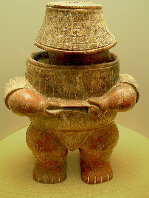 Figurine of a Man wearing a hat from Western Mexico