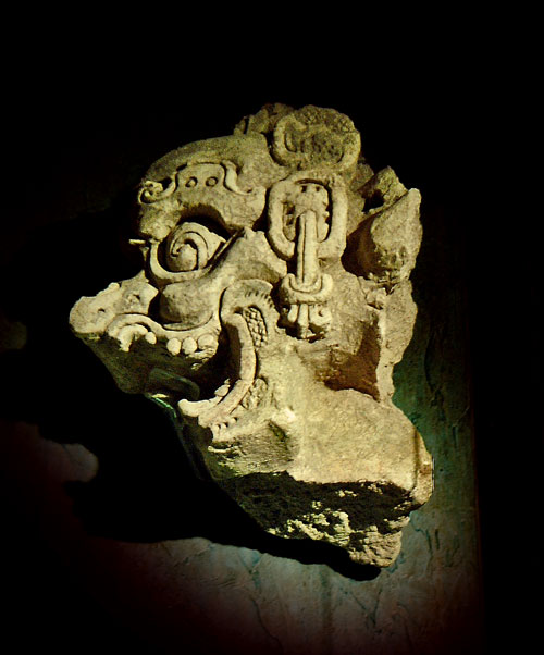 Sculpture of God K in the Tonina Museum