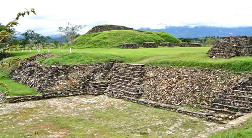 Sacrificial Altar and Ballcourt 1 at Tonina
