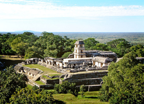 El Palacio And Coastal Plain at Palenque