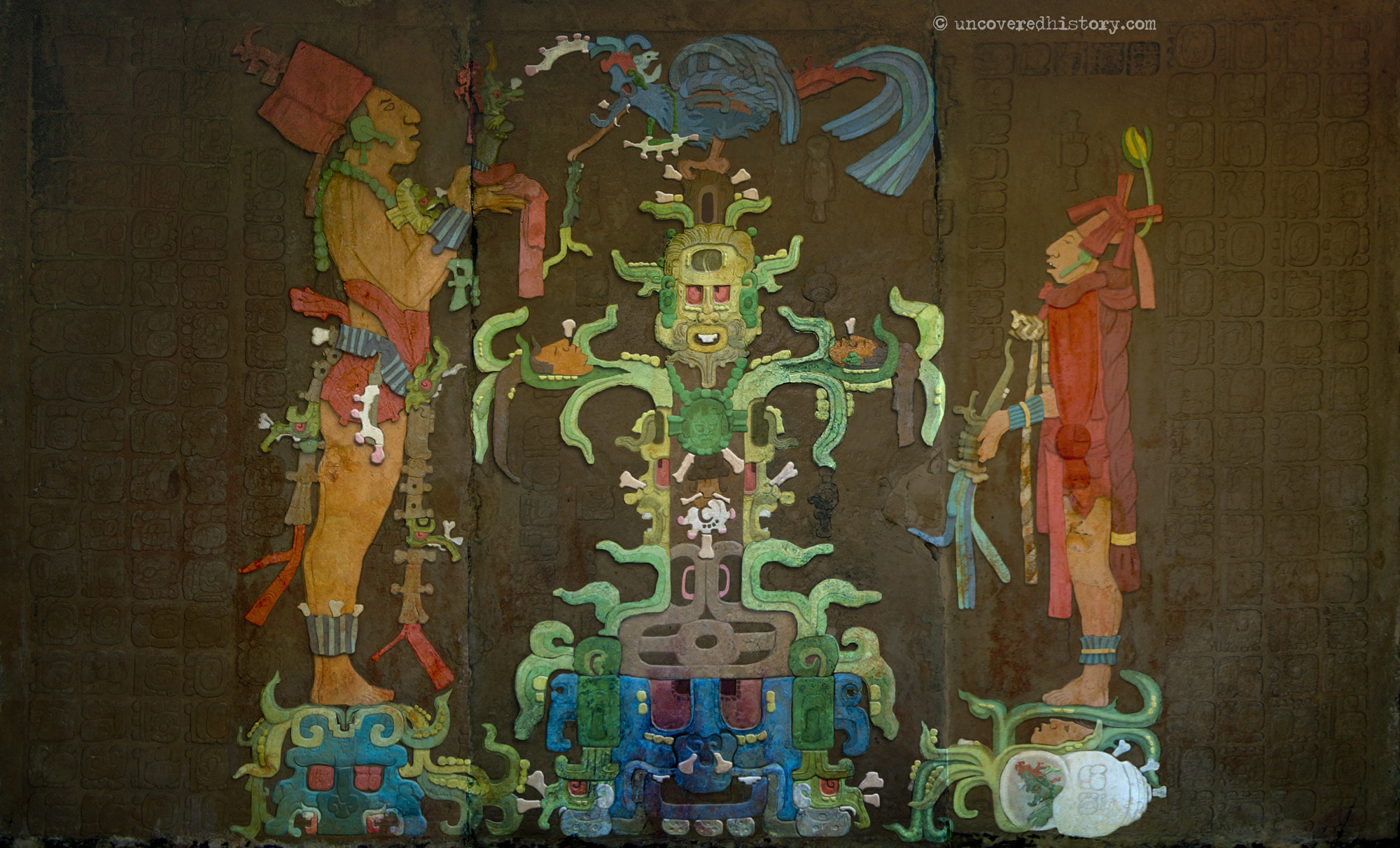 Temple of the Foliated Cross Panel - Coloured